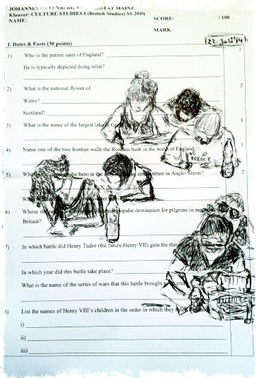 Sketches on an Exam