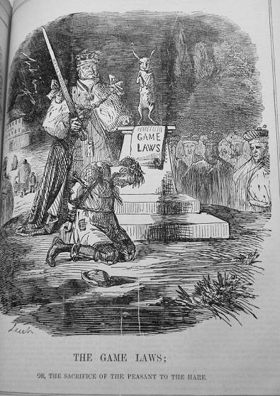 cartoon The Game Laws by John Leech