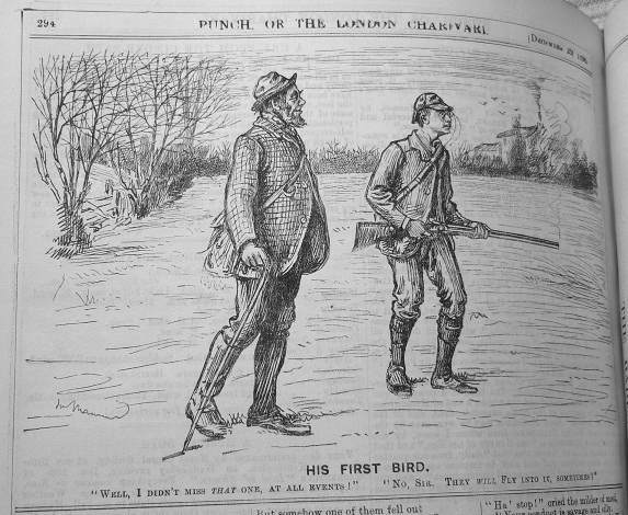 cartoon of amateur sportsman from PUNCH