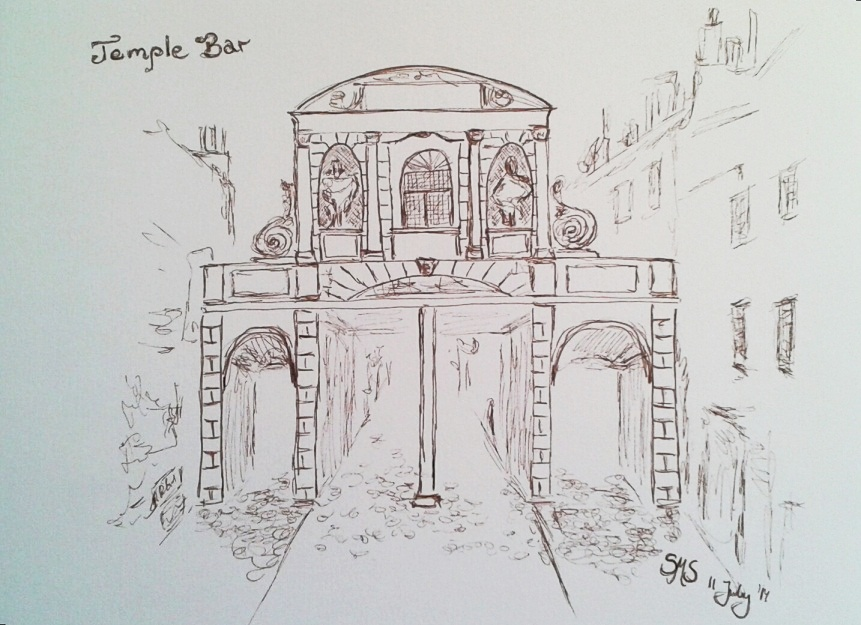 A sketch of Temple Bar