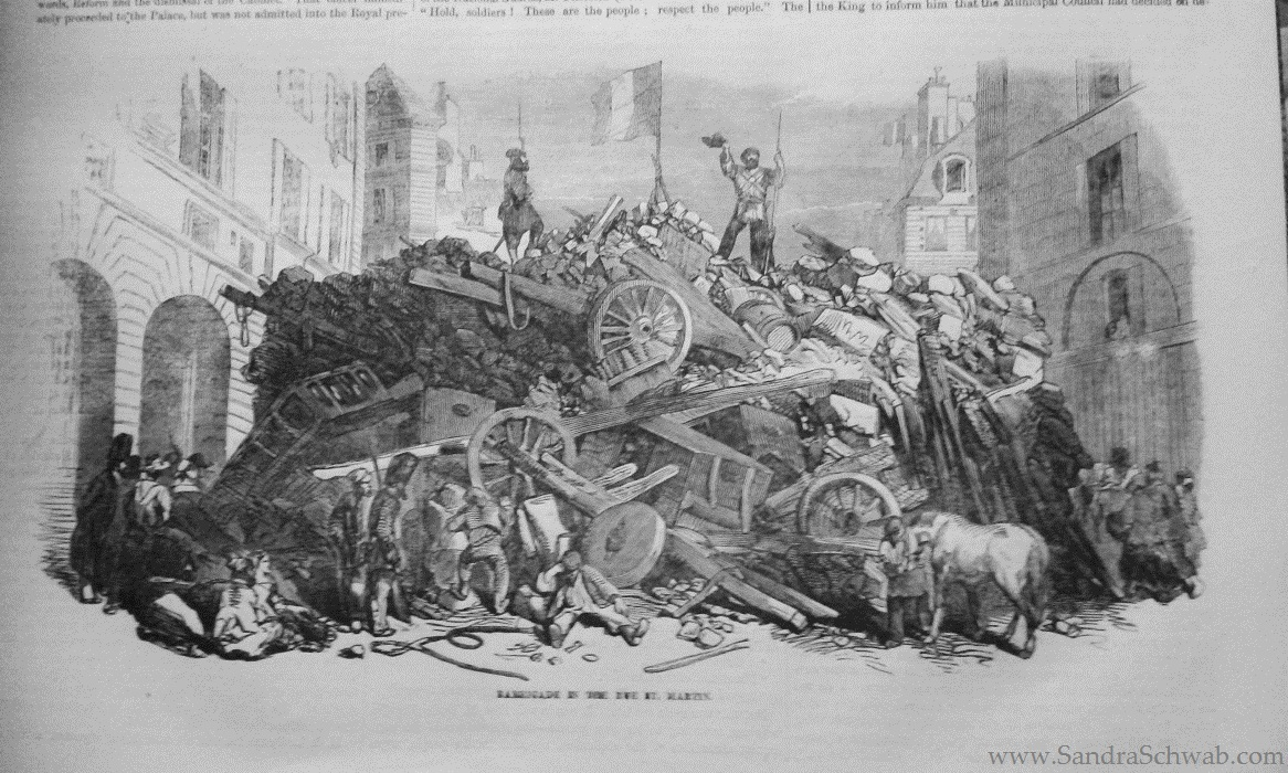 barricades in Paris
